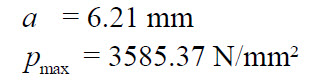 Numerical results for Hertz contact problem