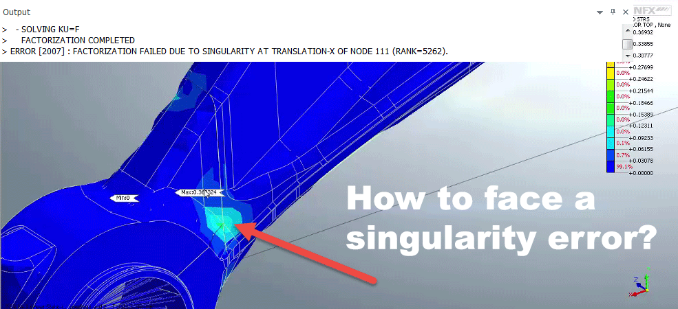 How to face a singularity error?