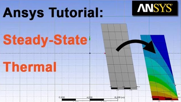 Ansys Tutorial:  Steady state thermal analysis of a simple plate