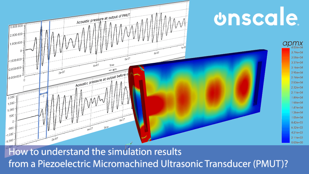 How to understand the simulation results of a PMUT Ultrasonic Transducer in OnScale?
