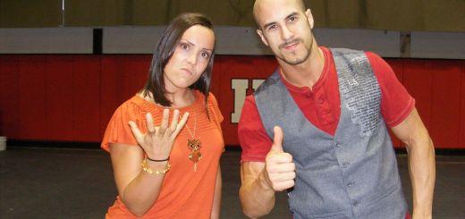 Sara Del Rey and Claudio Castagnoli Free Wrestling: Sara Del Rey vs. Claudio Castagnoli (Cesaro) (7/31/11)
