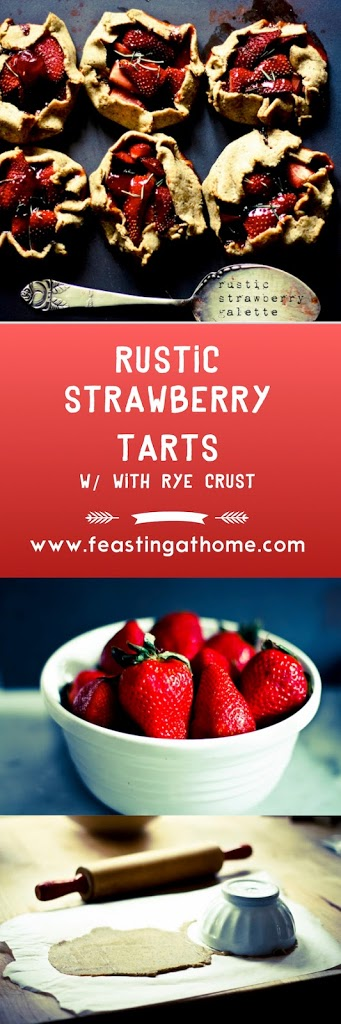 Rustic Strawberry Tart with Seeded Rye Crust | www.feastingathome.com
