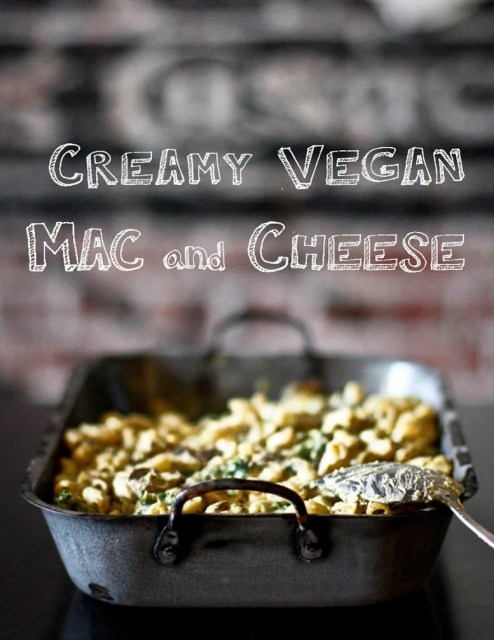 Creamy Vegan Mac and Cheese - delicious and easy, this healthy version gluten free and guilt-free! | www.feastingathome.com