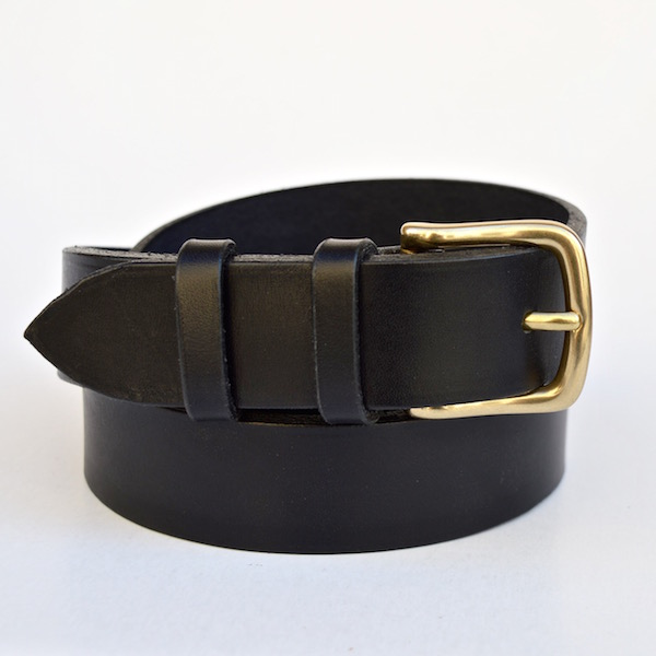 Black Casual Belt, 3cm