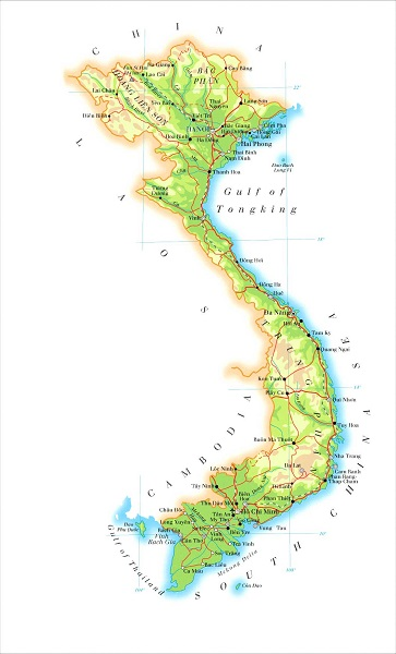 Karta Vietnam