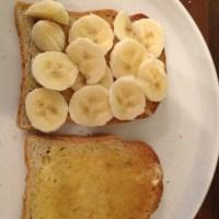 Gluten free, dairy free breakfasts. Option 5 - banana toastie