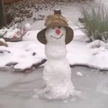 Schneemann mit Hut...es ist ja kalt..
