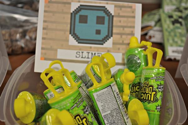 minecraft slime party treat idea