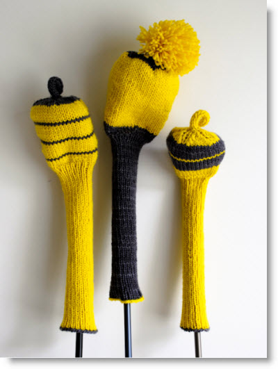 Crochet Patterns Golf Club Covers Free : Knit Golf Club Covers Free Pattern - Felting