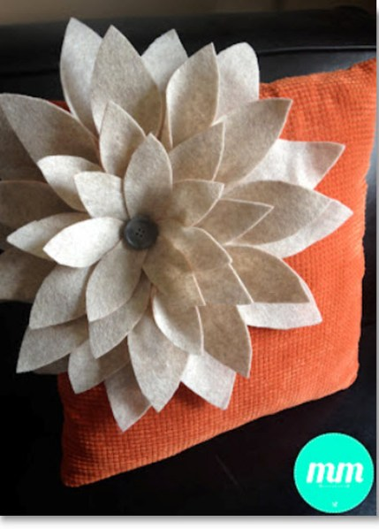 Felt Flower Pillow