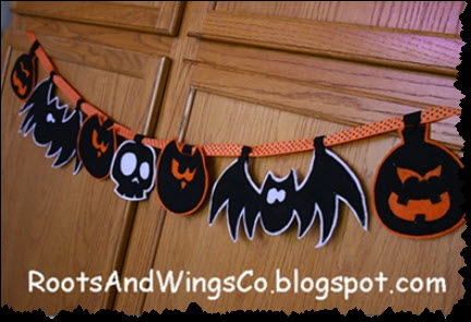 Scary Felt Halloween Garland