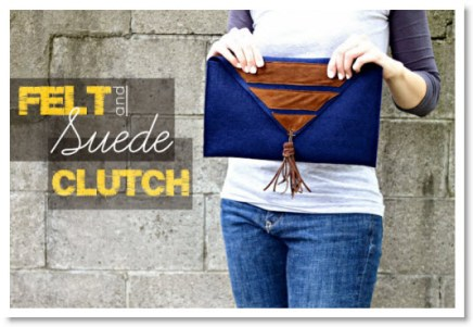 Felt and Suede Clutch Tutorial