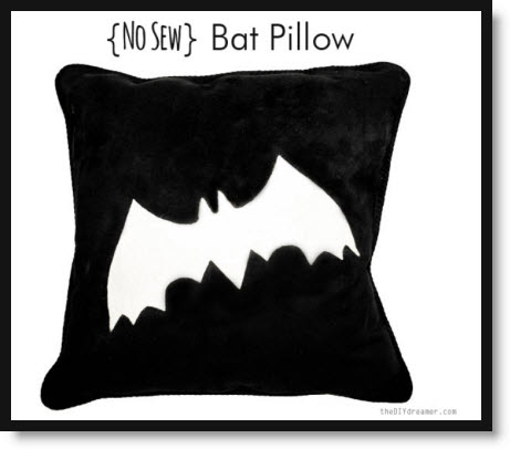 No sew Bat Pillow
