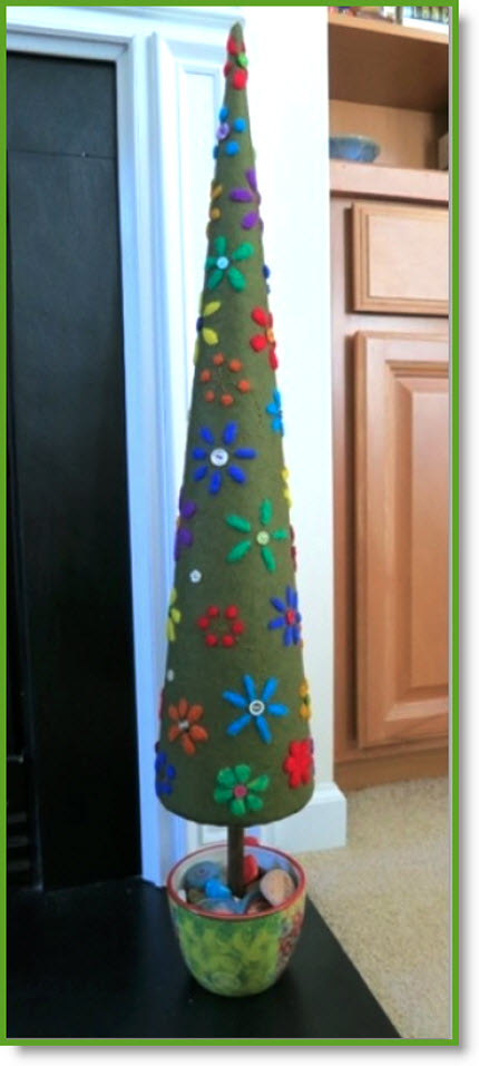 Needle Felted Tree tutorial