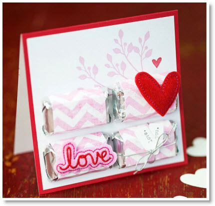 Candy Valentine card