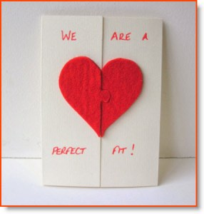 Valentine's Day Card Felt