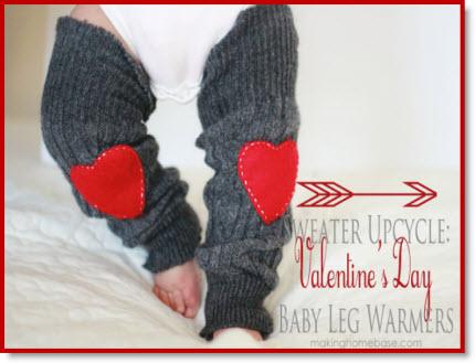 baby Valentine leg warmer