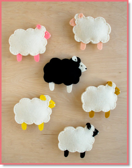 Purl Soho's Little Lamb Finger Puppets