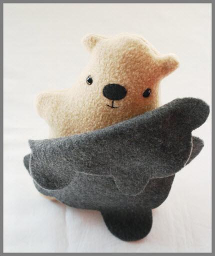 groundhog plush with shadow blanket