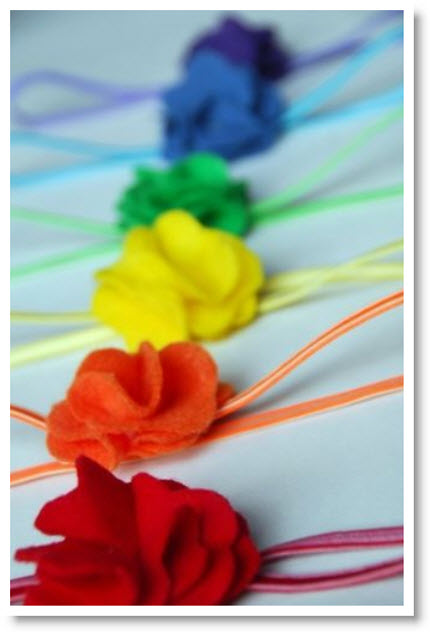 Rainbow Felt Headband Tutorial