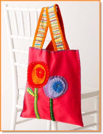 fashion felt tote