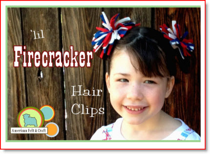 firecracker hair clips