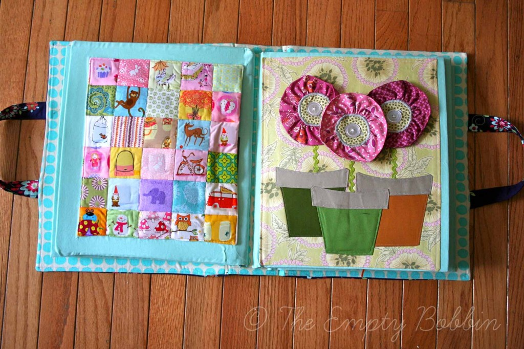 6 quiet book pages for little girls felting for The idea door quiet book