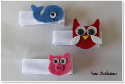 Animal Friends Hair Clips