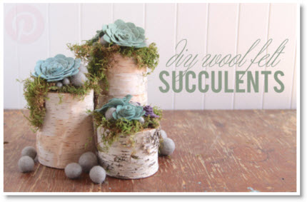 DIY Felt Succulents tutorial