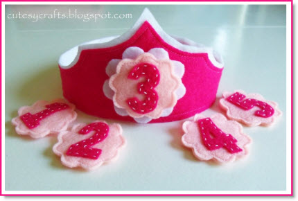 Felt Birthday Crown