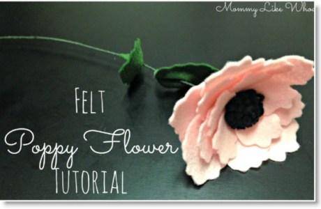 Felt Poppy Flower