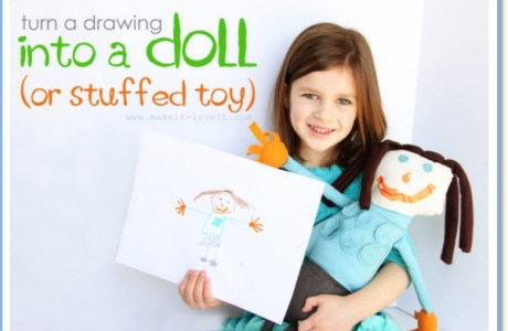 Turn Child's Drawing into Stuffed Toy Doll