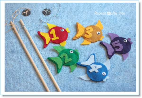 Fishing Game with Felt Fish