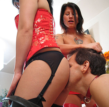femdom forced anal licking