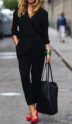 black and coloeful shoe