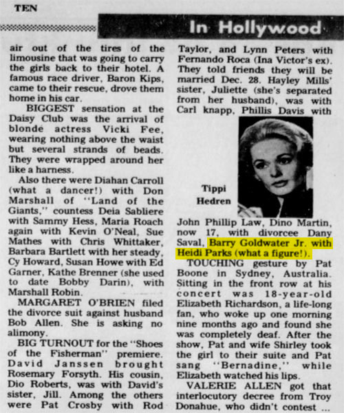 """New Castle News 11/27/68 """"Shoes of the Fisherman"""" Premiere. From Heidi Parks personal collection."""