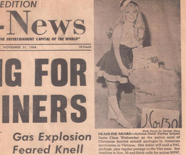 """""""Beverly Hills Edition, Citizen-News"""" November 21st, 1968. From Heidi's personal collection."""