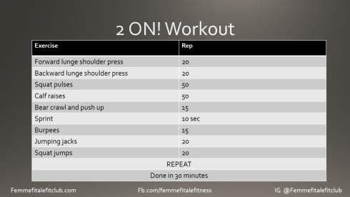 2 On! Workout