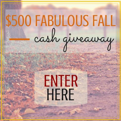 $500 Fabulous Fall Cash Giveaway
