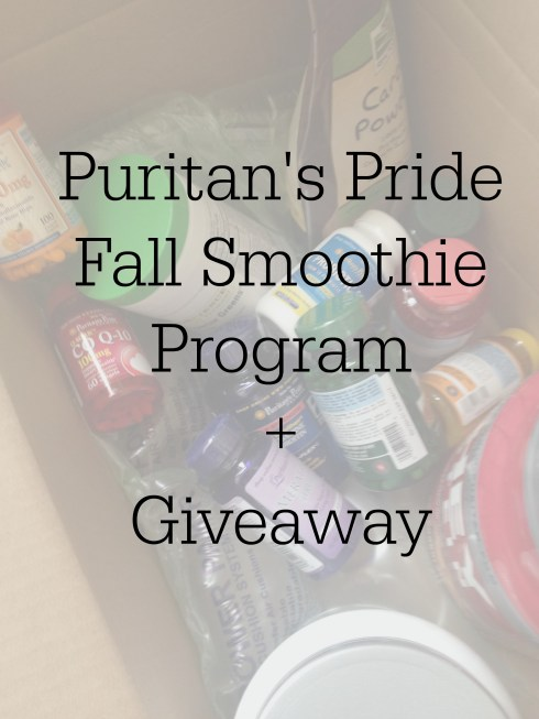 Puritans Pride Fall Smoothie Program and Giveaway