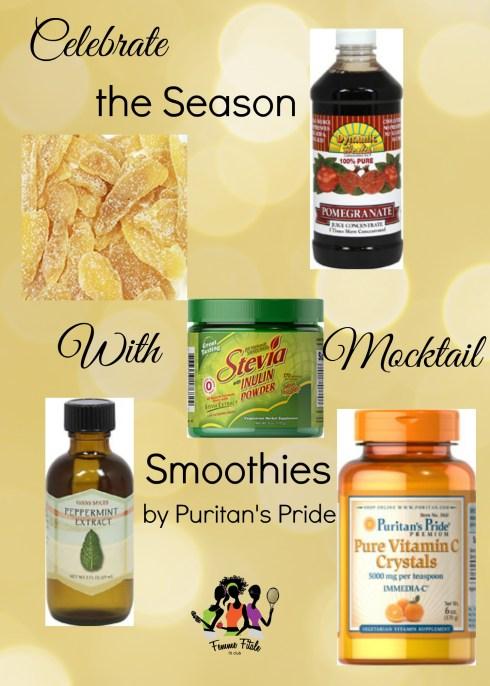 Puritan's Pride Mocktail Smoothies #mocktail #smoothies
