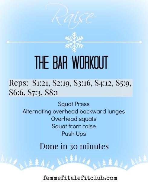 Raise The Bar Workout #fitfam #workout #squats