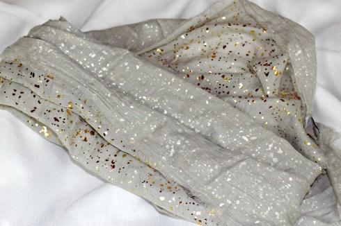 SPUN by Subtle Luxury Speckled Metallic Scarf