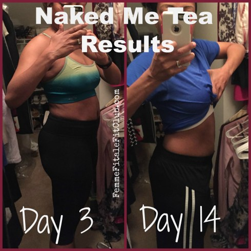 Naked Me Tea Results Before and After photo #nmt #teatox #detoxtea #teadetox