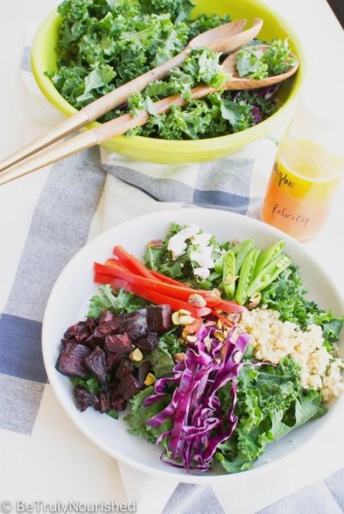 Winter Beet and Kale Salad