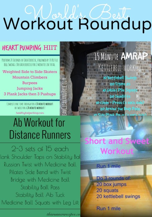 World's Best Workout Roundup