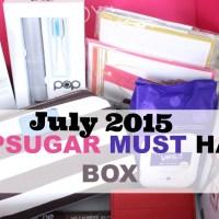 July 2015 POPSUGAR Must Have Box Unboxing