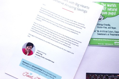 Message from CEO of Love With Food