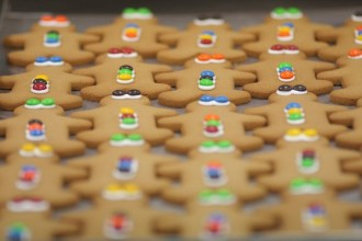 Handmade and iced Gingerbread Men