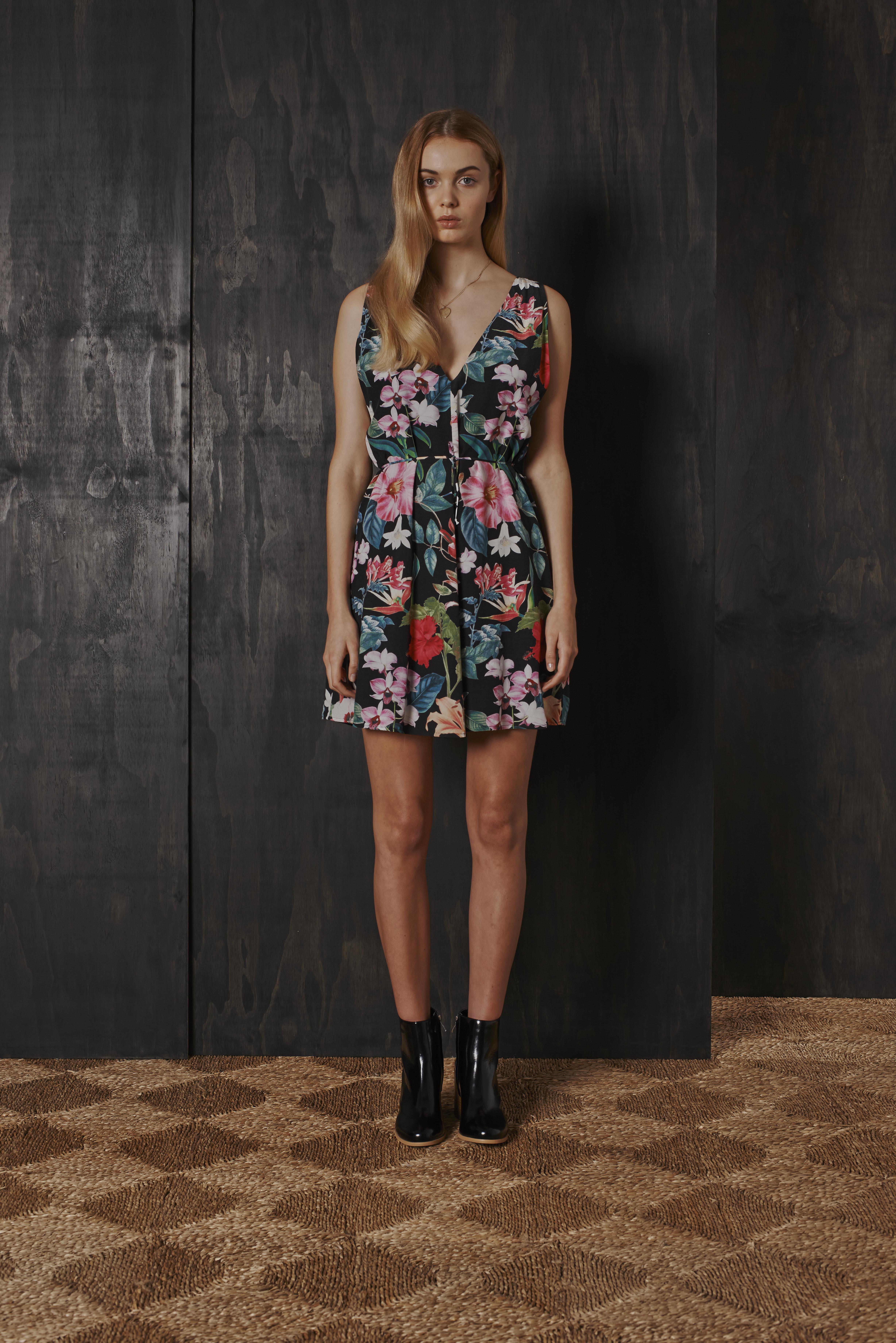 RUBY Nectarine Plunge Dress & Willow Boot